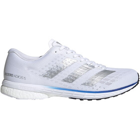 adidas Adizero Adios 5 Zapatillas Hombre, footwear white/silver metal/royal blue
